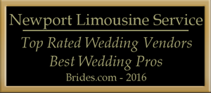 Newport Limousine Service, Top Rated Wedding Vendors, Best Wedding Pros, Brides.com,2016